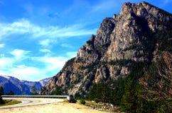 De bergweg van Montana van de staat Stock Foto's