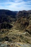 De bergweg van Oman Royalty-vrije Stock Foto's