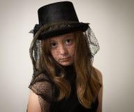 De Berijdende Hoed van Ginger Teenage Girl In Victorian Stock Foto