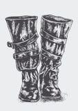 De berijdende laarzen van vrouwen Royalty-vrije Stock Afbeeldingen