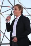De beroemde acteur Mikhail Morozov - lood en vertegenwoordigt de Kronstadt-festivalopera Stock Foto's