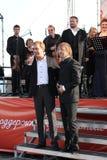 De beroemde acteur Mikhail Morozov - lood en vertegenwoordigt de leider van het symfonieorkest Fabio Mastrangelo Royalty-vrije Stock Foto
