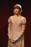 De beroemde auteur Wax Model van Jane Austen Stock Afbeeldingen