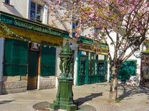 De beroemde boekhandel Shakespeare en bedrijf, Parijs, Frankrijk royalty-vrije stock afbeelding