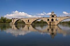 De beroemde brug van Avignon stock afbeeldingen