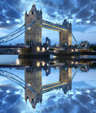 De beroemde Brug van de Toren, Londen, het UK royalty-vrije stock afbeeldingen