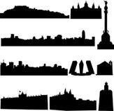De beroemde gebouwen van Spanje. Stock Foto's