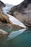 De beroemde gletsjer van Noorwegen Royalty-vrije Stock Foto's