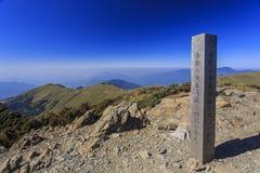 De beroemde Hehuan-Berg van Taiwan bij nacht Royalty-vrije Stock Foto
