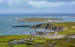 De beroemde Hemelweg dichtbij Clifden, Provincie Galway, Ierland stock fotografie