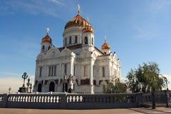 De beroemde historische Christelijke kerk in Moskou. stock foto