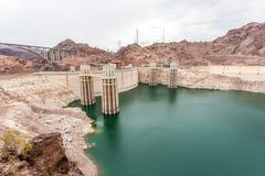 De beroemde Hoover-Dam hydro-elektrische elektrische centrale bij Nevada-AR royalty-vrije stock afbeeldingen