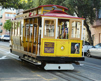 De beroemde kabelwagen in San Francisco Stock Afbeelding