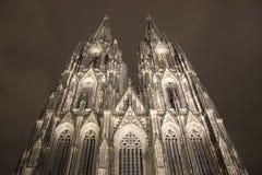 De beroemde kathedraal van Keulen Stock Foto