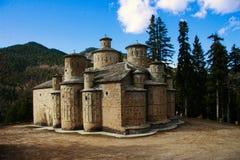 De beroemde kerk van Heilige Dwarstimiou Stavrou stock foto's