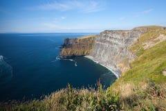 De beroemde Klippen van Moher in Ierland Stock Foto