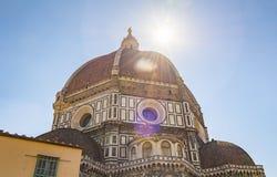 De beroemde koepel van Brunelleschi ` s van de Kathedraal in Florence royalty-vrije stock fotografie