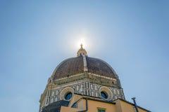 De beroemde koepel van Brunelleschi ` s van de Kathedraal in Florence royalty-vrije stock foto