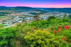 De beroemde middeleeuwse stad van Sighisoara, Transsylvanië, Roemenië, Europa royalty-vrije stock fotografie