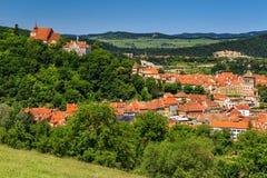 De beroemde middeleeuwse stad van Sighisoara, Transsylvanië, Roemenië, Europa royalty-vrije stock afbeelding