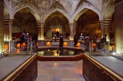 De beroemde openbare baden van Vakil in Shiraz, Iran royalty-vrije stock fotografie