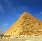 De beroemde oude piramide van Egypte Cheops Royalty-vrije Stock Afbeeldingen