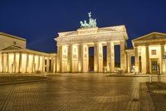 De beroemde Piek Brandenburger in Berlijn stock afbeelding