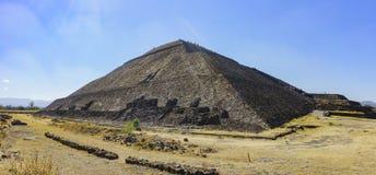 De beroemde Piramide van de Zon stock foto's