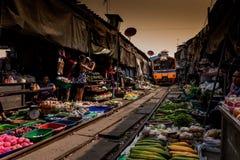 De beroemde spoorwegmarkten Royalty-vrije Stock Foto