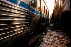 De beroemde spoorwegmarkten Stock Foto's