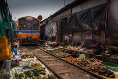 De beroemde spoorwegmarkten Royalty-vrije Stock Foto's