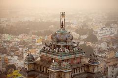 De beroemde Tempel van Rockfort Ucchi Pillayar Stock Foto's