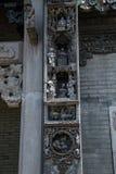 De beroemde toeristische attracties in Guangzhou-voorouderlijke zaal van stads de Chinese Chen, baksteen die karakters van decora Stock Foto