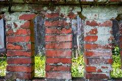 De beroemde toeristische attracties van Taiwan ` s, kattendorp, de oude rode bakstenen muur, stock afbeeldingen