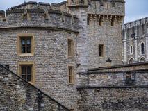 De beroemde Toren van Londen - belangrijk oriëntatiepunt in de stad royalty-vrije stock foto's