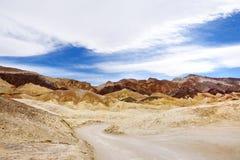 De beroemde weg van Twintig Muilezelteams in het Nationale Park van de Doodsvallei Stock Afbeelding
