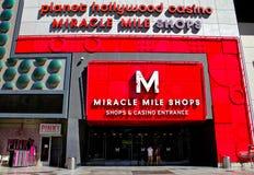De Winkels van de Mijl van het mirakel, Las Vegas, NV Stock Afbeeldingen