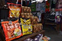 De beroemde witte die koffie van Penang op de straat wordt verkocht Royalty-vrije Stock Foto