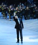 De beroemde zanger China theFamous Cai Guoqing - en classicconcert Stock Afbeeldingen
