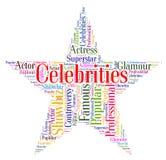 De beroemdheden spelen Middelen Bekende Beroemd en Beroemdheid mee stock illustratie