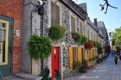 Rue du Petit-Champlain, de Stad van Quebec, Canada Royalty-vrije Stock Afbeelding