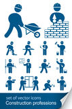 De beroepen van de bouw Stock Afbeelding