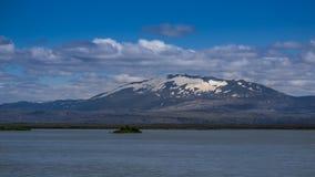 De beruchte Hekla-vulkaan, Zuid-IJsland royalty-vrije stock afbeeldingen