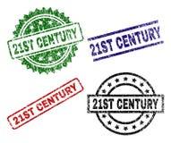 De beschadigde Geweven Verbindingen van de de 21ST EEUWzegel royalty-vrije illustratie