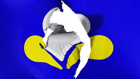 De beschadigde vlag van Brussel royalty-vrije illustratie