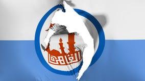 De beschadigde vlag van Kaïro vector illustratie