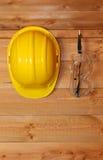 De beschermende brillen van de bouwvakker en van de veiligheid Royalty-vrije Stock Fotografie