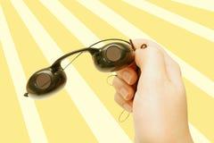 De beschermende brillen van de bruine kleur royalty-vrije stock afbeeldingen