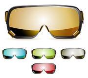 De beschermende brillen van de ski royalty-vrije illustratie