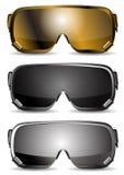 De beschermende brillen van de ski stock illustratie